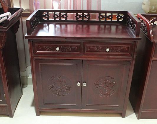 西藏挑花酒水柜
