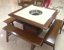 镶木边火锅桌